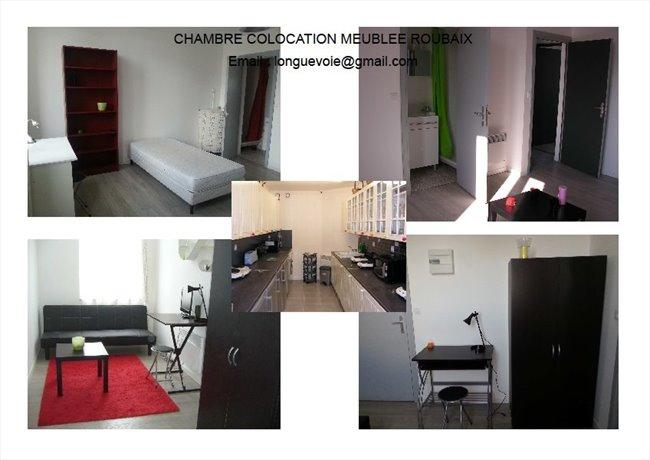 Chambre coloc studio t2 logement meubl roubaix for Location t2 meuble lille