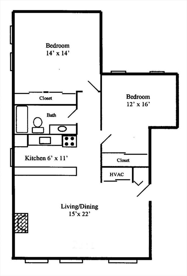 lincoln park one bedroom available in two bedroom apartment image 2