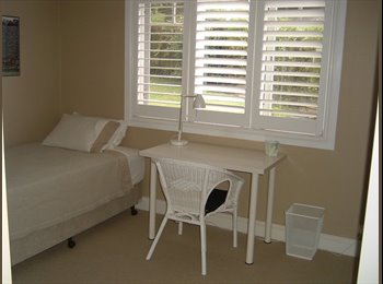 Fully furnished quiet room overlooking garden