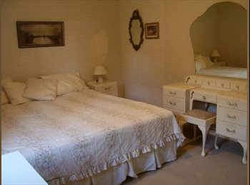 Furnished double bedroom- king size bed