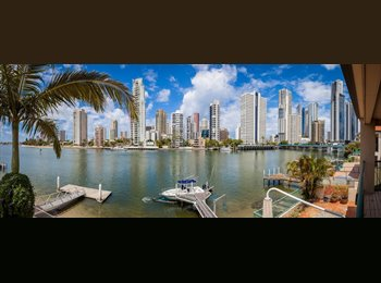 EasyRoommate AU - SURFERS WATERFRONT HOME- PERMANENT OR SHORT RENTAL - Chevron Island, Gold Coast - $300 pw