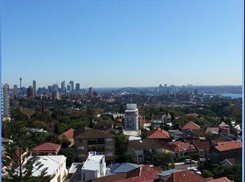 EasyRoommate AU - Big bedroom w. ensuite, parking, balcony & views - Bondi Junction, Sydney - $420 pw