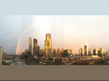 EasyRoommate AU - Unbeatable Yarra RiverViews!!! Top floor with huge terrace, Melbourne - $520 pw