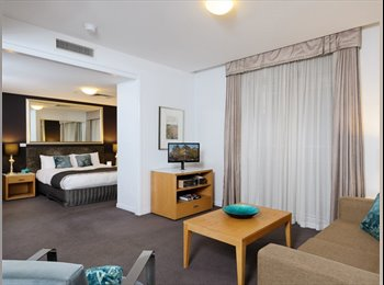 EasyRoommate AU - Living room in the 'Treasury on Collins' building , Melbourne - $220 pw