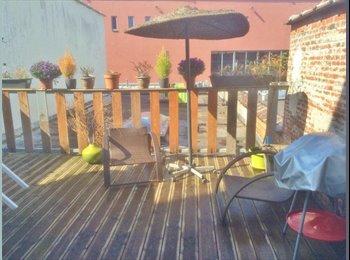 Appartager BE - Belle chambre - terrasse - durée flexible - Koekelberg, Bruxelles-Brussel - 350 € / Mois