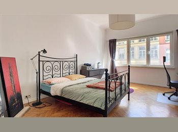 Large bedroom in furnished, big, & pleasant flat in BXL...