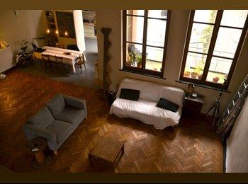 Appartager BE - En plein centre Chambre dans un grand Loft d'artistes.  - le Pentagone (centre ville), Bruxelles-Brussel - 600 € / Mois