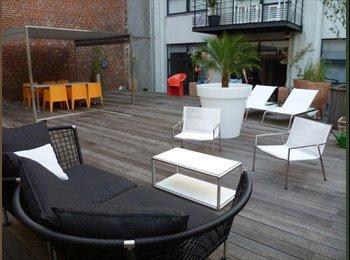 Appartager BE - Chambre dans super loft haut Forest, Saint Gilles Sint Gillis - 800 € / Mois