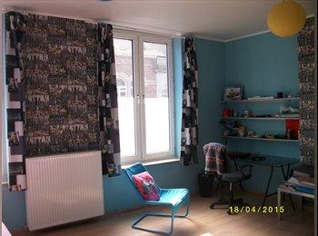 Appartager BE - Chambre spacieuse et lumineuse meublée à louer, Charleroi - 280 € / Mois