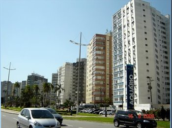 EasyQuarto BR - Apto com 2 Suites  50m2 frente mar ponta da Praia Santos local nobre próximo ao shopping Praiamar, Santos - R$ 2.199 Por mês
