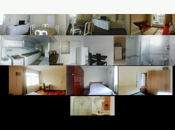 Alugo quartos em apartamento, em frente ao Colégio Energia