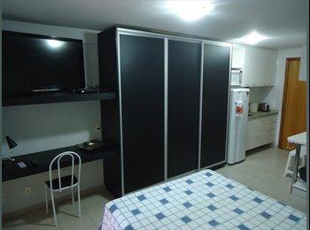 EasyQuarto BR - Apartamento de um quarto mobiliado.  - Jardim Goias, Goiânia - R$ 1.200 Por mês