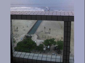 Vista linda em frente a praia.