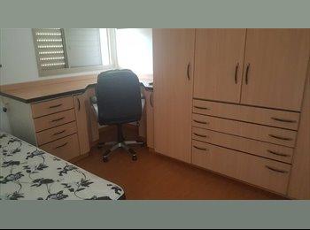 EasyQuarto BR - Ofereço vaga em quarto indiividual em apt no Cambui, RM Campinas - R$ 1.100 Por mês