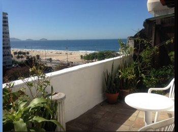 EasyQuarto BR - Suíte com vista para a praia de copacabana - Copacabana, Rio de Janeiro (Capital) - R$ 2.500 Por mês