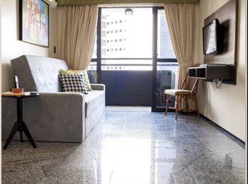 EasyQuarto BR - Flat completo Saint Martin, em Meireles - Outros, Fortaleza - R$ 2.300 Por mês
