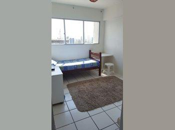 EasyQuarto BR - QUARTO em apartamento na SOLEDADE/ BOA VISTA - Recife, Recife - R$ 800 Por mês