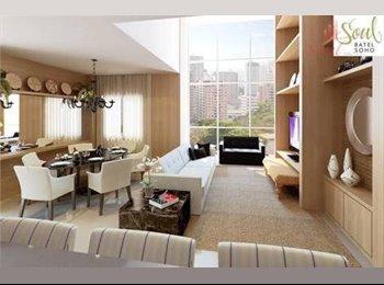 EasyQuarto BR - Divido apartamento. Disponivel uma suite alto padrão! - Batel, Curitiba - R$ 2.000 Por mês