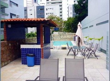 EasyQuarto BR - Alugo Quarto de Solteiro, nos Aflitos,  em minha Residência, Recife - R$ 550 Por mês