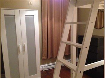 EasyRoommate CA - Chambre toute meublée (475$) dans grand appartement magnifique ! - Mercier - Hochelaga - Maisonneuve, Montréal - $475 pcm