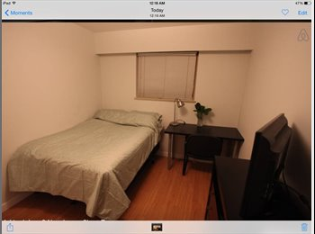 A spacious furnished room for rent