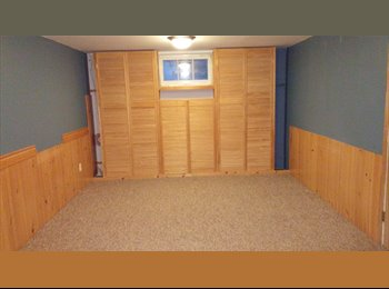 EasyRoommate CA - 1 large bedroom basement rental with private bathroom - Kitchener, South West Ontario - $750 pcm