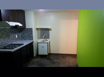 1 double room + a den(single bedroom) 2-bedroom basement...
