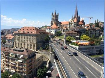 EasyWG CH - cherche un ou une colocataire - Lausanne, Lausanne - 1300 CHF / Mois