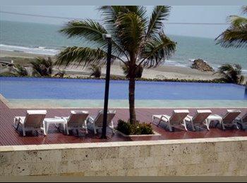CompartoApto CO - 2 HABITACIONES DISPONIBLES DESDE 4/09/2016 CON PISCINA GIMANSIO FRENTE AL MAR - Cartagena, Cartagena - COP$0 por mes
