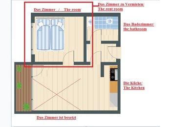EasyWG DE - 1 Zimmer in 2 Zimmer Wohnung zu Vermieten, München - 700 € pm