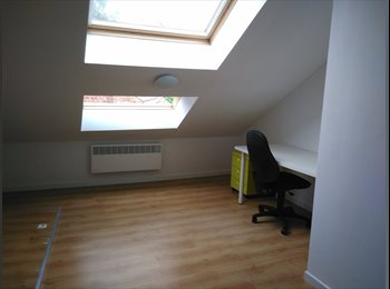 Light attic room with private bathroom in the centre of...