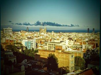 Habitación doble en Gracia con vistas a Barcelona