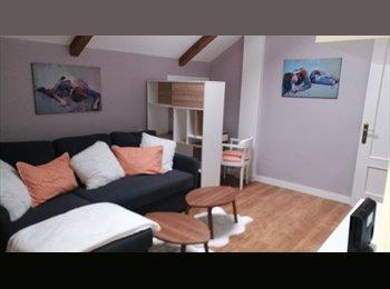 Habitacion con salon y baño propio