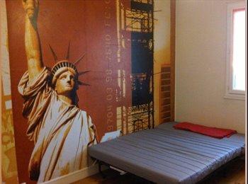 1 Chambre de 10.5m2 meublée/métro Jolimont