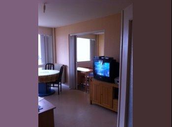 Chambre meublée ,lit, armoire bureau,dans T2 45 m2