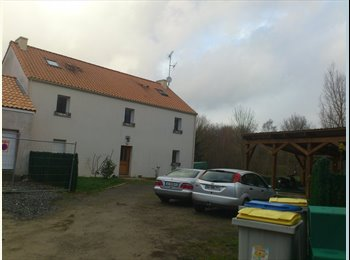 Appartager FR - Une chambre dans un T2 intérieur d'une maison - Nantes-Erdre, Nantes - 350 € /Mois
