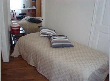 Chambre claire, calme dans appartement 6eme arrdt