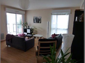 Appartager FR - Appartement 82m2 avec terasse exposée sud, quartier calme - Jeanne d'Arc - Longs-Champs - Beaulieu, Rennes - 420 € /Mois