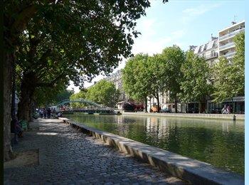 Appartager FR - Chambre 15m2 dans logement de 80m2 (Republique/Canal St. Martin 75010) - 10ème Arrondissement, Paris - Ile De France - 800 € /Mois