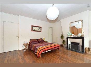 Appartager FR - Grande chambre dans coloc au centre de Paris - 3ème Arrondissement, Paris - Ile De France - 1025 € /Mois