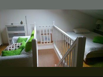 Appartager FR -  Studio meublé : chambre /SB/ cuisine, indépendant dans villa  - Chassieu, Lyon - 450 € /Mois