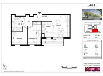 Appartager FR - Appartement meublé avec deux chambres , Lyon-8E-Arrondissement - 450 € /Mois