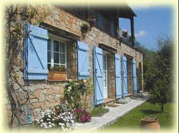 Appartager FR - 3 ch meublées en coloc/jardin dans maison/2 niveaux. Secteur Grasse, Opio., Magagnosc - 450 € /Mois