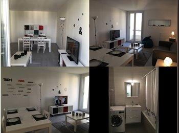 Colocation deux chambres dans appartement meublé
