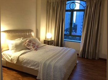 Gorgeously furnished master bedroom available in a spacious...