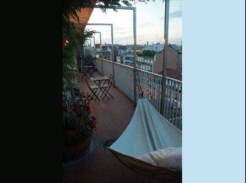 Stanza singola in ampio appartamento con terrazzo