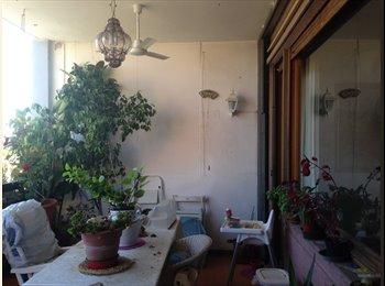 EUR Montagnola, Camera-studio con balcone in casa grande