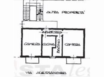 2 stanze in affitto in ampio bilocale - 2 rooms for rent in...