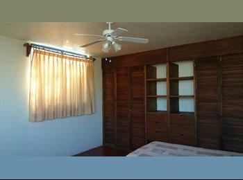 Se rentan cuartos amueblados para mujeres.