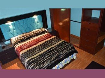 CompartoDepa MX - Cuartos amueblad X noche,sem o mes UNAM hospitales - Coyoacán, DF - MX$4,150 por mes